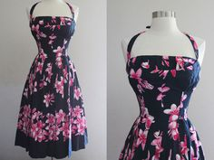 1960s Shaheen Dress / Vintage 50s Tropical by SavvySpinsterVintage, $325.00