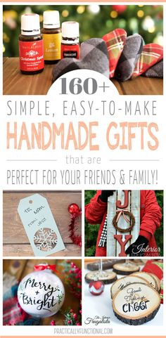 I love to give handmade gifts during the holiday season! Here are over 160 amazing handmade gift ideas for everyone on your list this year!