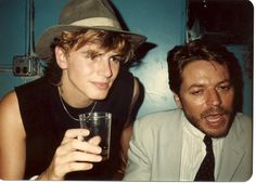John Taylor and Robert Palmer (who is looking a little worse for the wear)