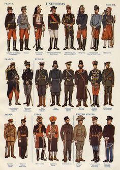 1910 Military Uniforms