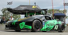 The No. 03 Tequila Patron Ferrari 458 of Guy Cosmo and Scott Sharp in pit lane before the June 2nd Grand-Am race at the Detroit Grand Prix. (Photo by Autoweek.com)