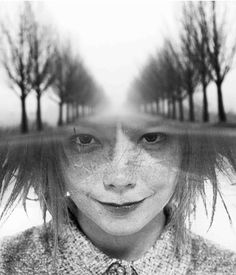 Antonio Mora portrait of Bjork Multiple Exposure, Double Exposure, Photomontage, Bjork, Spanish Artists, Unusual Art, Face Expressions, Abstract Photos, Surreal Art