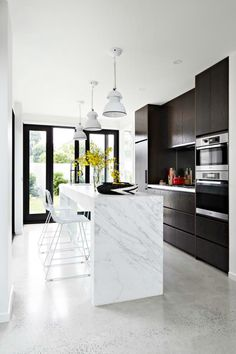 White concrete floor