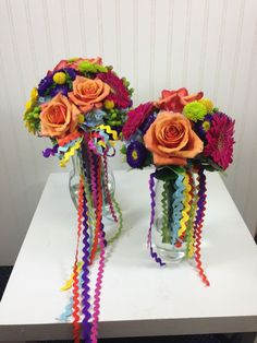 mexican wedding flowers | Mexican Fiesta theme wedding bridal bouquets