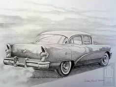 Drawing in pencil Pencil Drawings, Art Drawings, Car, Black And White Drawing, Automobile, Cars, Art Paintings, Pencil Art, Art Illustrations