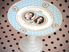 diy cake stand - royal wedding plate - kate and william