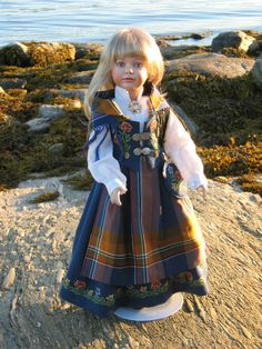 """This is the most common bunad from my part of Norway: """"Nordlands bunad"""" (Bunadsdukker - www."""