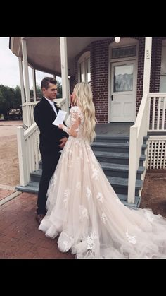 Gorgeous Ball Gown V Neck Long Sleeve Lace Champagne Long Wedding Dresses with …. Gorgeous Ball Gown V Neck Long Sleeve Lace Champagne Long Wedding Dresses with … Prom Dress With Train, V Neck Wedding Dress, Long Wedding Dresses, Long Sleeve Wedding, Tulle Wedding, The Dress, Bridal Dresses, Wedding Gowns, Chic Wedding