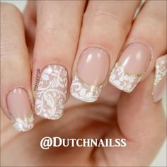 And here is the video of the gelpolish lace french manicure you can find the link to the full video in my bio!