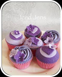 Purple & lilac cupcakes