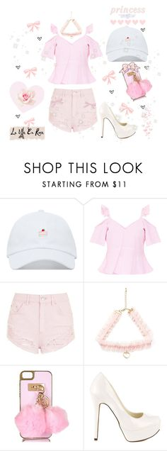 """♡ Girly & Pink Summer Look ♡"" by kaylalovesowls ❤ liked on Polyvore featuring Topshop, River Island, Michael Antonio and La Vie en Rose"
