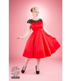Robe pin up rouge pas cher