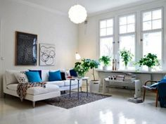 Decorating Ideas for  Luxury Living Room of Scandinavian Style