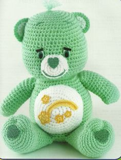 Make your own homemade Care Bears with this vintage easy crochet pattern!