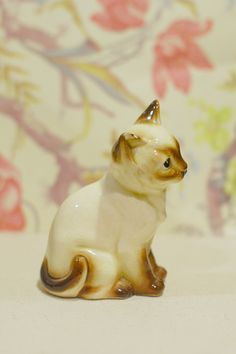 Vintage 1950's Ceramic Siamese Cat Figurine  by reverietrinkets: My first adoption into the new collection! <3