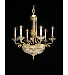 Waterford Crystal Beaumont Chandelier - Brass NINE Arm Dome by Waterford Crystal Lighting Bronze Chandelier, Chandelier Ceiling Lights, Mini Chandelier, Hanging Lights, Chandelier Bedroom, Baccarat Crystal, Crystal Stemware, Waterford Crystal, Crystal Chandeliers