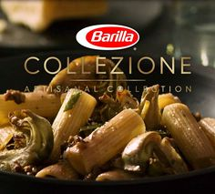 Capture the mouthwatering flavors of lamb, artichokes, lemon, and tarragon with our perfectly textured bronze cut Collezione Rigatoni. Save this pin for an extra-tasty dinner idea! #CookingwithCollezione #Barilla