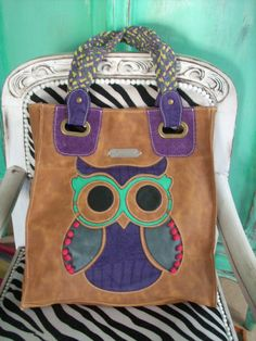 leather owl bag