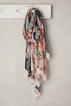 at anthropologie Baie de Somme Scarf - navy Cozy Fashion, Fashion Outfits, Hijab Fashion, Head Scarf Styles, Anthropologie, Designer Scarves, Silk Scarves, Indian Outfits, Womens Scarves