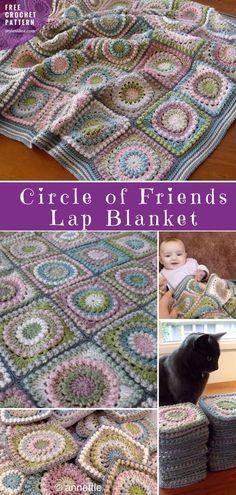 Circle of Friends Lap Blanket Free Crochet Pattern | #CircleofFriends #crochetBlanket, #FreeCrochetPattern