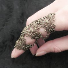 Elven Armor Ring  Brass Filigree by RavynEdge on Etsy, $25.00
