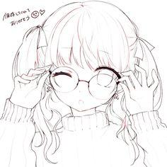 Kawaii Anime Girl, Anime Girl Cute, Anime Art Girl, Bff Drawings, Art Drawings Sketches Simple, Kawaii Drawings, Best Anime Drawings, Chibi Girl Drawings, Lineart Anime