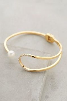 Gold Philosophy Pearl Eclipse Cuff #anthrofave