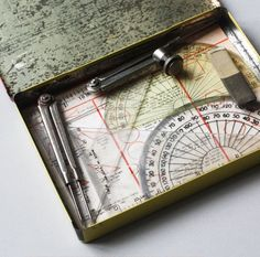 Vintage Geometry Set & Tin, from Our Workshop