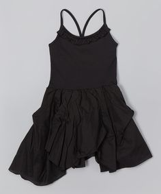 Another great find on #zulily! Black Hanky Dress - Toddler & Girls by Candy Bean #zulilyfinds
