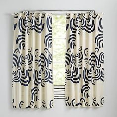 Cloudscape Curtains (Navy)  | The Land of Nod