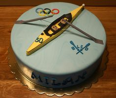 Rowing cake Queen Birthday, 21st Birthday, Birthday Parties, Rowing Team, Rowing Crew, Bithday Cake, Cake Decorations, Bar Mitzvah, Cup Cakes