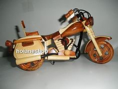 Hand carved Wood Art Model Motorcycle HARLEY by hoianeshop on Etsy