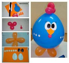 chicken-ballon-praktic-ideas - Find Fun Art Projects to Do at Home and Arts and Crafts Ideas Barnyard Party, Farm Party, Diy Crafts For Kids, Arts And Crafts, Cute Chickens, Making Stained Glass, Cowboy Party, Cool Art Projects, Farm Birthday