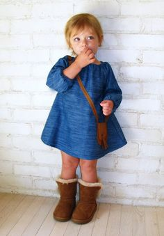 I need to get Lexi a little dress like this!  She's got the boots already, so adorable for this fall/winter!