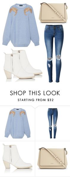 """Untitled #3811"" by evalentina92 ❤ liked on Polyvore featuring Alena Akhmadullina, WithChic, Acne Studios and DKNY"