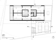 WERK - g.a group of young architects Modern Floor Plans, Mountain Cottage, Steel House, Steel Buildings, House Layouts, Architectural Digest, Planer, Modern Contemporary, Modern Farmhouse