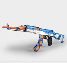 498Pcs Puzzle Building Blocks AK47 Gun Assembled Shotgun Toy w//Bullet Gift