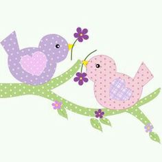 Eu Amo Artesanato: Lindezas tiradas da net You are in the right place about applique diy Here we offer you the most beautiful pictures about the applique fashion you are looking for. When you examine Applique Templates, Applique Patterns, Applique Designs, Quilt Patterns, Embroidery Designs, Bird Template, Applique Tutorial, Bird Applique, Bird Embroidery