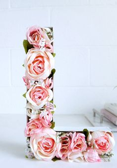 diy lettre fleurie mariage / flowers diy wedding