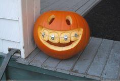 Pumpkin with braces