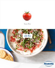 Layering is in this summer. And we're talking about this layered tomato-basil dip.
