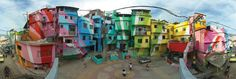 Color, culture, and people. #awesome | Favela Painting Project in Rio de Janeiro, Brazil. This public artwork project. . .