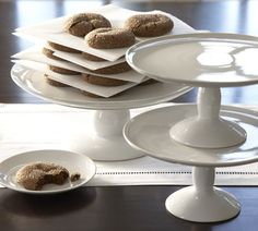 Great White Cake Stand, Medium and large sizes from Pottery Barn