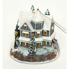 Thomas Kinkade Christmas Ornament A Holiday Gathering Lighted 1998 NIB || Available for sale via the pin's link.