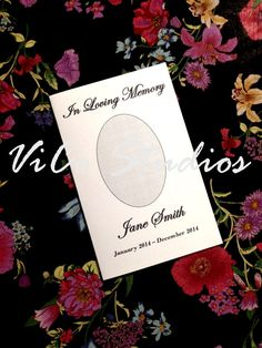 Easy Printable Template Funeral Program by ViCoStudios on Etsy