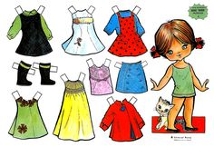 GREEN SERIES DOLLS (4 of 5) - 1960s GALLARDA Drawings  | De PAPEL: ROMA