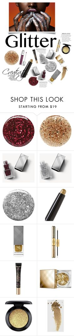 """glittering lights"" by iriadna ❤ liked on Polyvore featuring beauty, Burberry, JINsoon, By Terry, tarte, Too Faced Cosmetics, MAC Cosmetics, Gucci, Christian Dior and glitterlips"