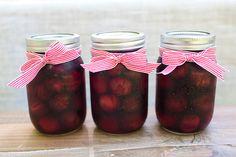 DIY canned cherries - kid's entertaining