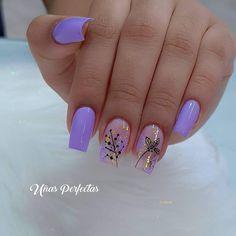Nail Polish Designs, Nail Designs, Manicure And Pedicure, Spring Nails, Acrylic Nails, Nail Art, Beauty, Purple Nail, Almond Nails