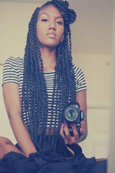 ba114cfd4880028f13bce118c55de1a4 Senegalese Twist Hairstyles, Braided Hairstyles, Senegalese Twists, Black Hairstyles, Hairstyles 2016, Wedding Hairstyles, Relaxed Hairstyles, Hairdos, Summer Hairstyles